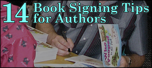 14 book signing tips for authors