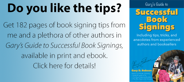 book signing book banner