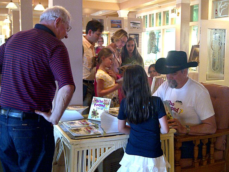 Book signing at Lake Lodge in Yellowstone