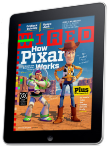Wired Magazine on an iPad