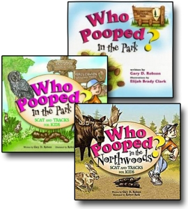 Who Pooped in the Park? book covers