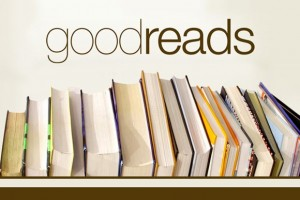 Goodreads logo with books