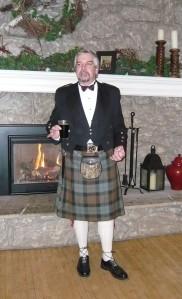 Gary toasting haggis at 2008 Rabbie Burns