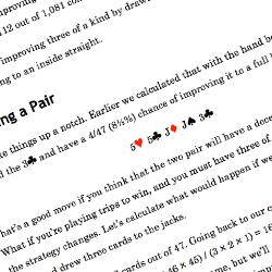 Poker odds book sample