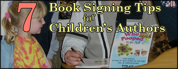 7 book signing tips for children's authors
