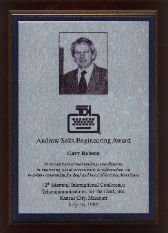 Andrew Saks Award