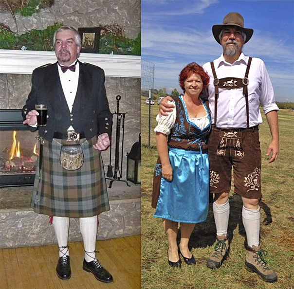 Lederhosen and Kilt
