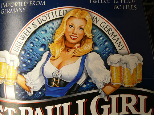 St. Pauli Girl beer label