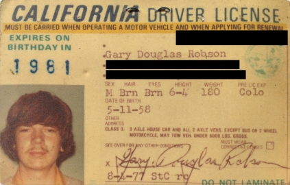 Gary 1977 Drivers License