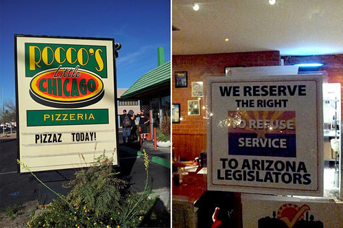 AZ Pizzeria Bites Back at Anti-Gay Law With Anti-Legislator Sign
