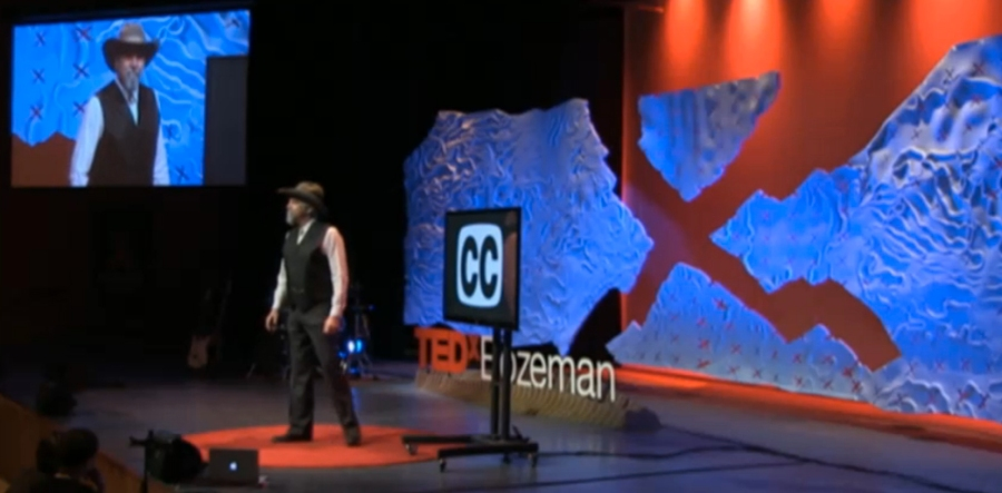 On stage at TEDxBozeman 2014