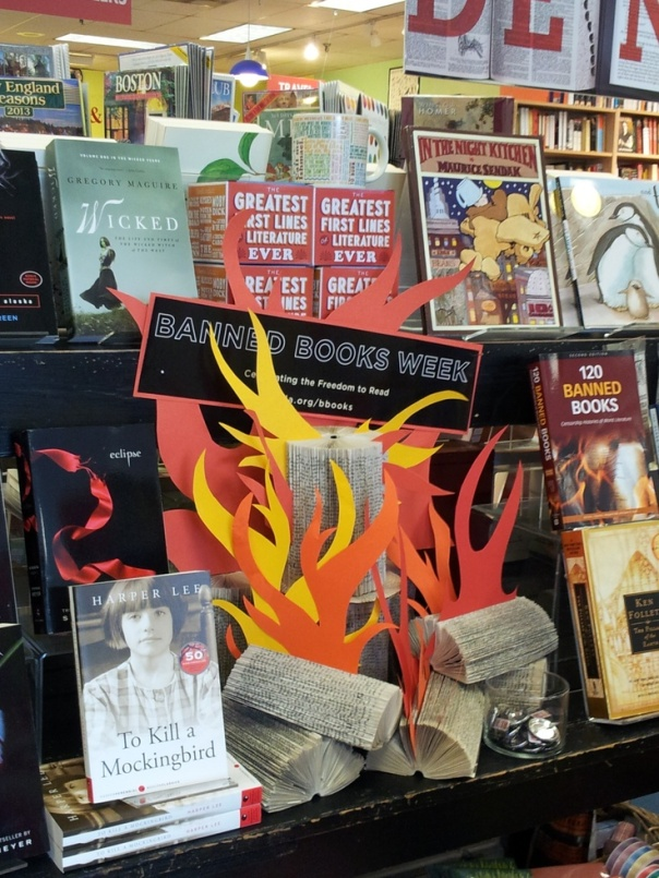 Banned book pin by Porter Square Books