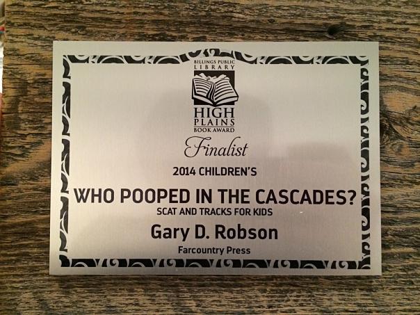 High Plains finalist plaque