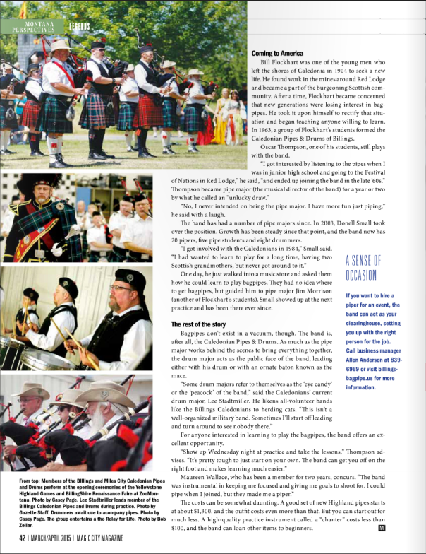 Billings Caledonian article page 4