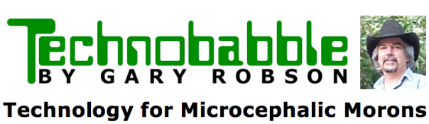 Technobabble moron header