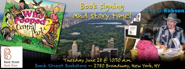 Central Park signing banner-Bank Street