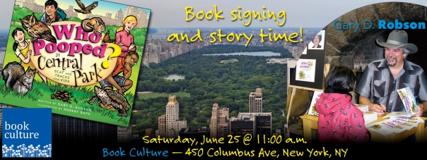 Central Park signing banner-Book Culture