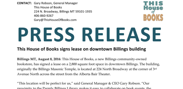 Press release 2016-08-08 Lease Signed
